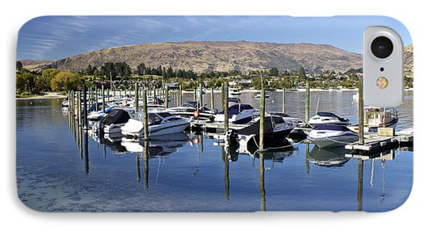 Boats On Lake Wanaka IPhone Case by Venetia Featherstone-Witty