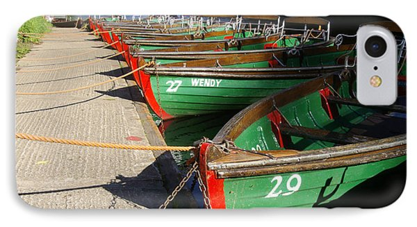 IPhone Case featuring the photograph Boats Waiting For Kids by Doc Braham