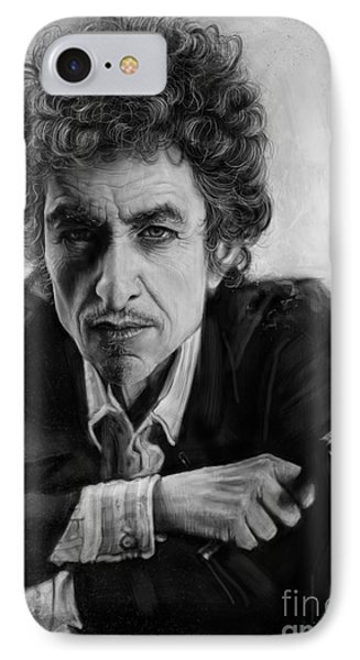 Bob Dylan IPhone Case by Andre Koekemoer