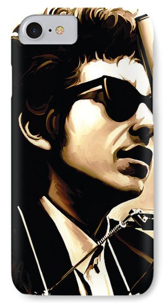 Bob Dylan Artwork 3 IPhone 7 Case by Sheraz A