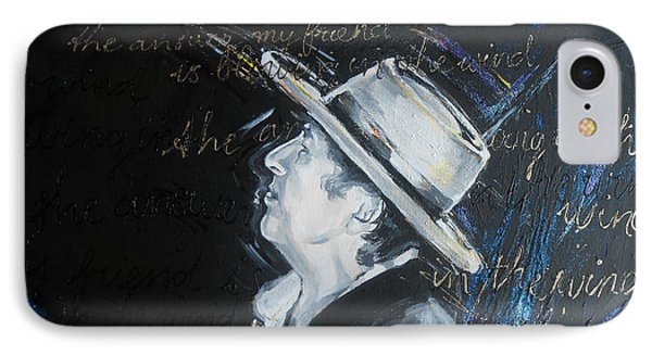 Bob Dylan - Blowing In The Wind Phone Case by Lucia Hoogervorst