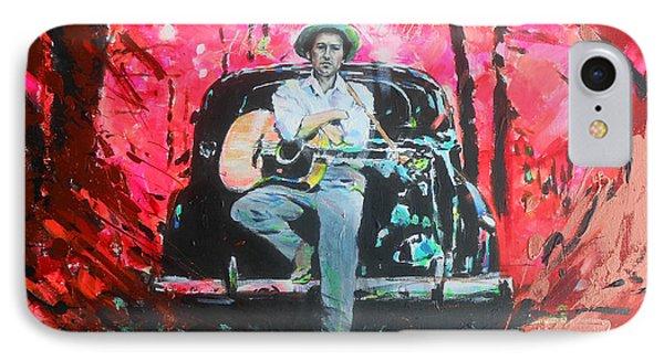 Bob Dylan - Crossroads Phone Case by Lucia Hoogervorst