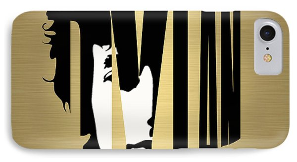 Bob Dylan Gold IPhone Case by Marvin Blaine