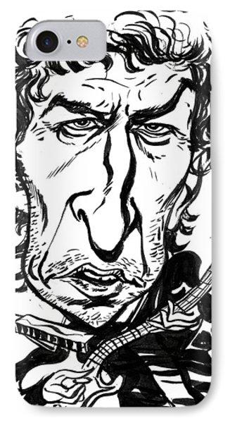 Bob Dylan Phone Case by John Ashton Golden