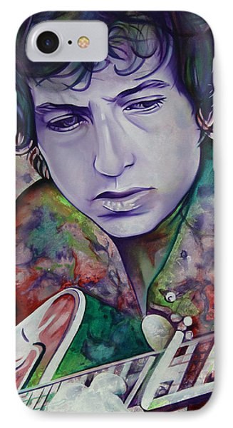 Bob Dylan-pink And Green Phone Case by Joshua Morton