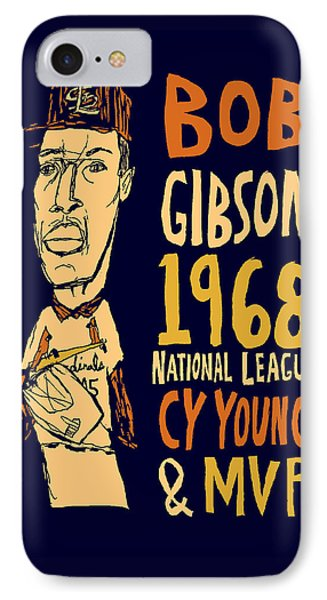 Bob Gibson St Louis Cardinals Phone Case by Jay Perkins