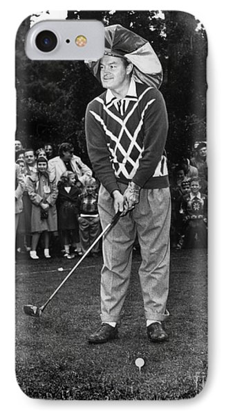Bob Hope At Bing Crosby National Pro-am Golf Championship  Pebble Beach Circa 1955 IPhone Case by California Views Mr Pat Hathaway Archives