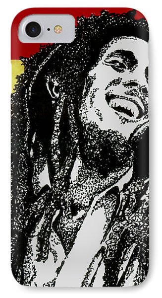 Bob Marley-laughing IPhone Case