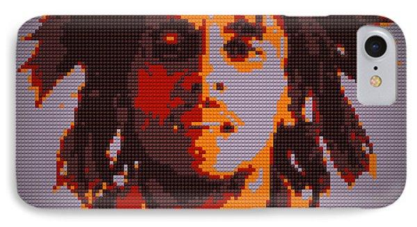 Bob Marley Lego Pop Art Digital Painting Phone Case by Georgeta Blanaru