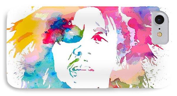 Bob Marley Watercolor Portrait IPhone Case
