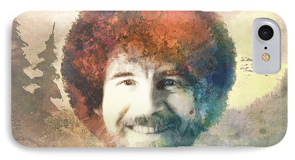 Bob Ross IPhone Case by Filippo B