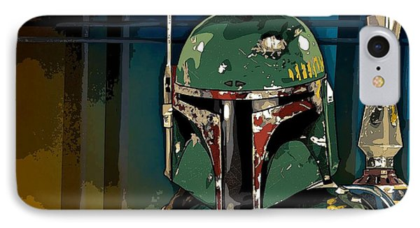 Boba Fett 2 IPhone Case by George Pedro