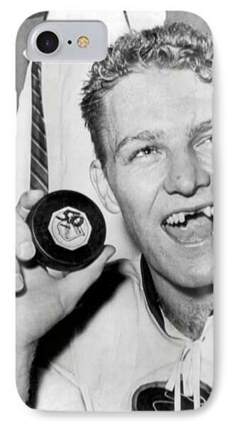 Bobby Hull Scores 50th Goal IPhone Case by Underwood Archives