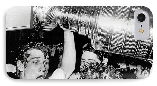 Bobby Orr With Stanley Cup IPhone Case by Underwood Archives
