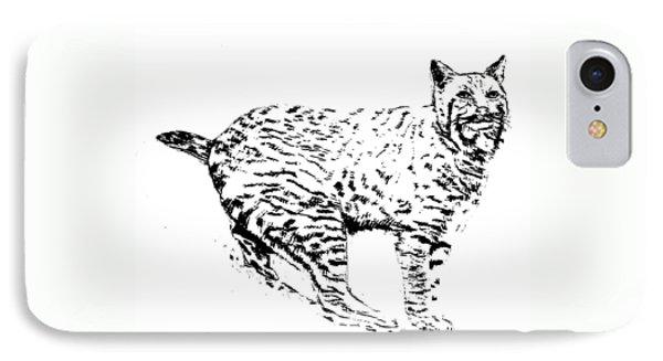 Bobcat IPhone Case by Teresa  Peterson