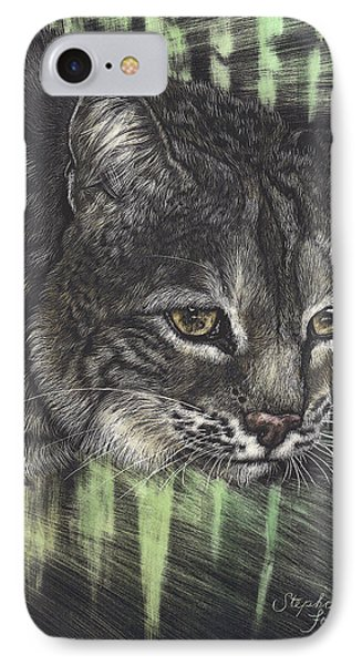 Bobcat Watching IPhone Case by Stephanie Ford