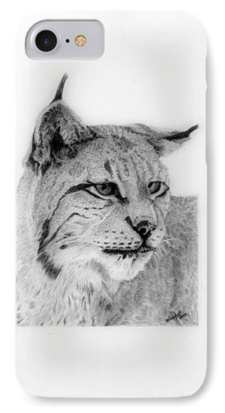 Bobcat IPhone Case by Wendy Brunell