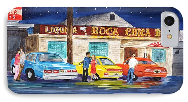 Boca Chica Bar Phone Case by Linda Cabrera