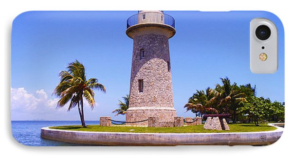 Boca Chita Lighthouse IPhone Case by Carey Chen
