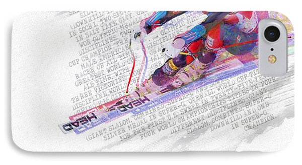 Bode Miller And Statistics IPhone Case by Tony Rubino