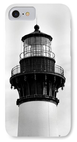 IPhone Case featuring the photograph Bodie Lighthouse Lens In Black And White by Bob Sample