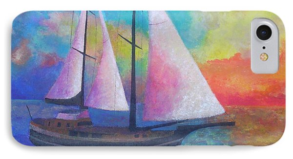 IPhone Case featuring the painting Bodrum Gulet Cruise by Tracey Harrington-Simpson