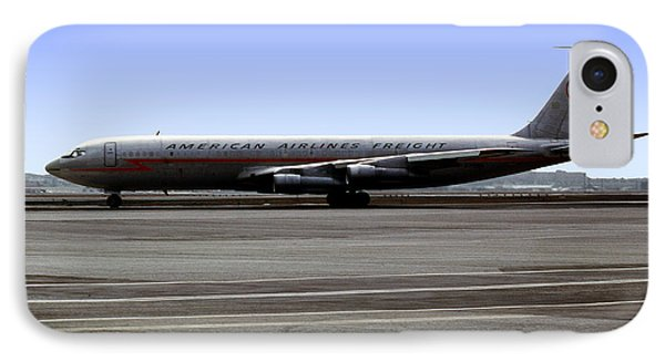 Boeing 707 American Airlines Freight Aal IPhone Case by Wernher Krutein
