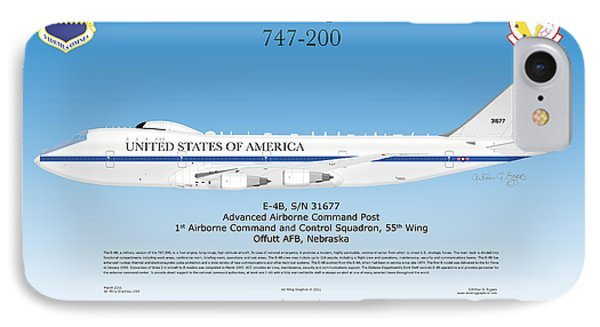 Boeing 747 200 E4b Phone Case by Arthur Eggers