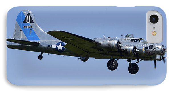 Boeing B-17g Flying Fortress Sentimental Journey N9323z Falcon Field April 28 2013 IPhone Case by Brian Lockett