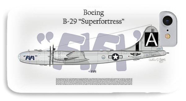 IPhone Case featuring the digital art Boeing B-29 Superfortress Fifi by Arthur Eggers