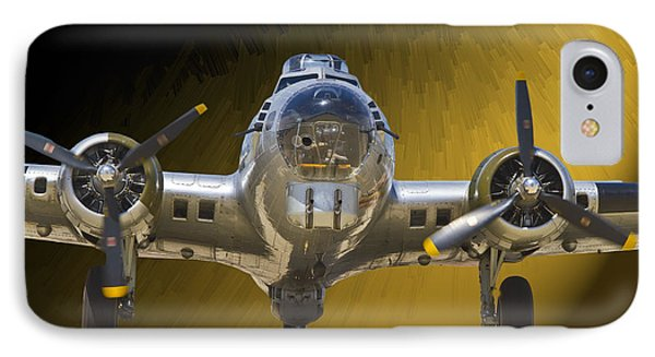IPhone Case featuring the photograph Boeing B17 by John Hix