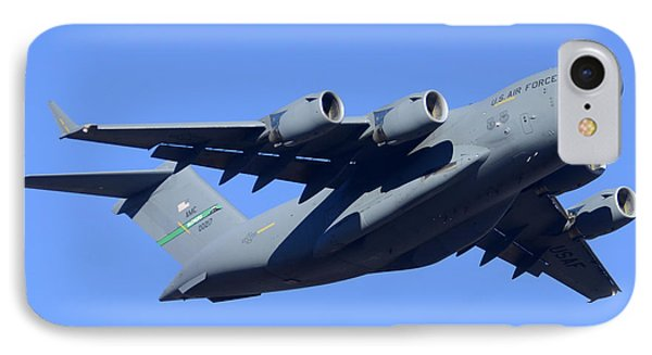 Boeing C-17a Globemaster 3 Phoenix Sky Harbor January 5 2015 IPhone Case