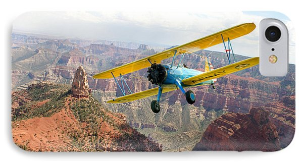 Boeing Stearman At Mount Hayden Grand Canyon Phone Case by Gary Eason