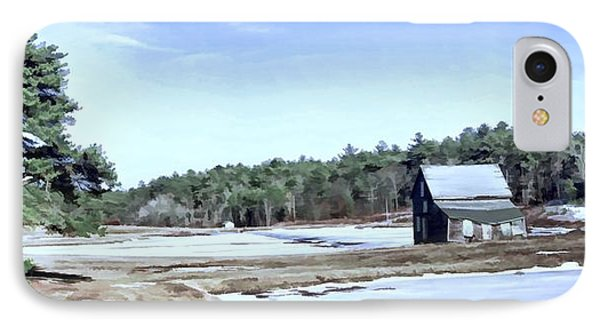 IPhone Case featuring the photograph Bog In Winter by Constantine Gregory
