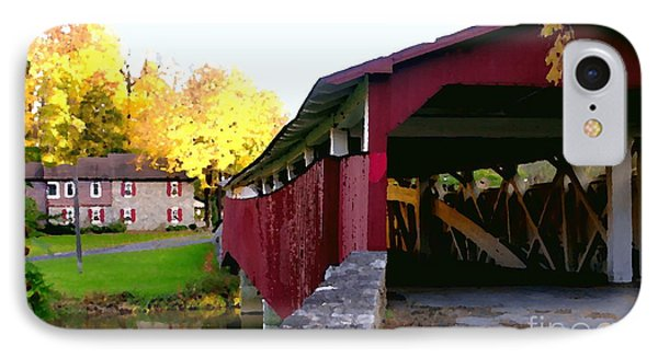 Bogerts Covered Bridge Allentown Pa IPhone Case by Jacqueline M Lewis