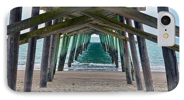 Bogue Banks Fishing Pier Phone Case by Sandi OReilly
