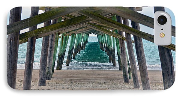 Bogue Banks Fishing Pier IPhone Case by Sandi OReilly