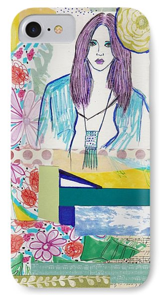 Boho Flower Girl IPhone Case by Rosalina Bojadschijew