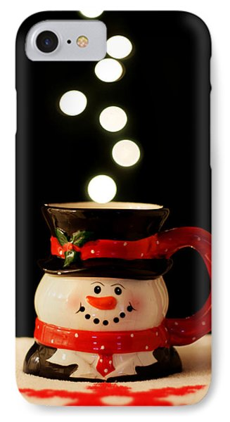 IPhone Case featuring the photograph Bokeh Fun With Snowman Mug by Barbara West