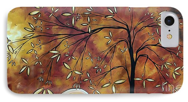 Bold Neutral Tones Abstract Landscape Art Oversized Original Painting The Wishing Tree By Madart Phone Case by Megan Duncanson