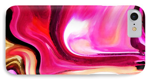 Bold Pink Abstract Phone Case by Carol Groenen