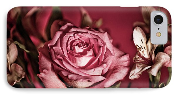 Bold Pink Rose Bouquet IPhone Case by Linda Matlow