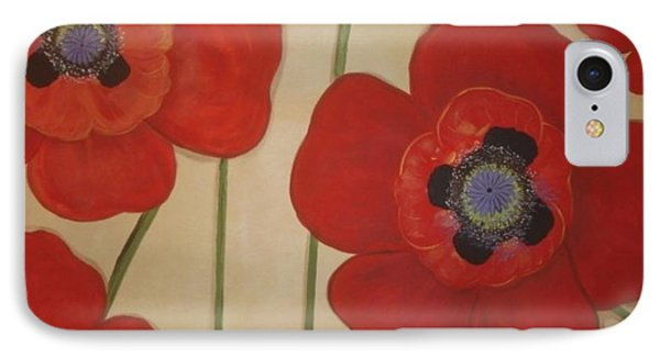 IPhone Case featuring the painting Bold Poppies by Cindy Micklos