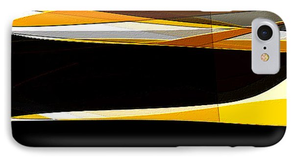 Bold- Yellow Orange Black And Gray Art IPhone Case by Lourry Legarde