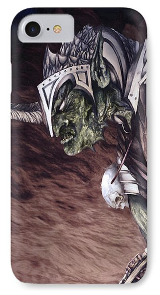 IPhone Case featuring the mixed media Bolg The Goblin King 2 by Curtiss Shaffer