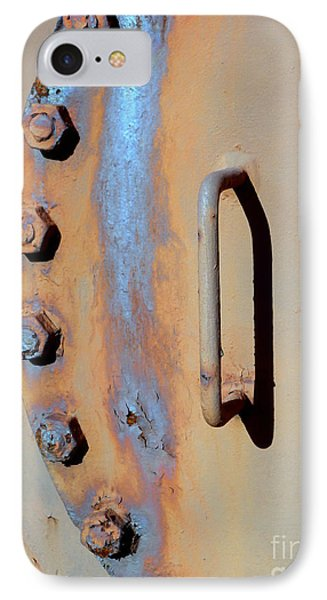 IPhone Case featuring the photograph Bolted Hatch by Robert Riordan