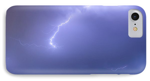 Bolts Of Lightning Arcing Through The Night Sky Phone Case by James BO  Insogna