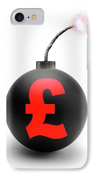 Bomb With British Pound Symbol IPhone Case