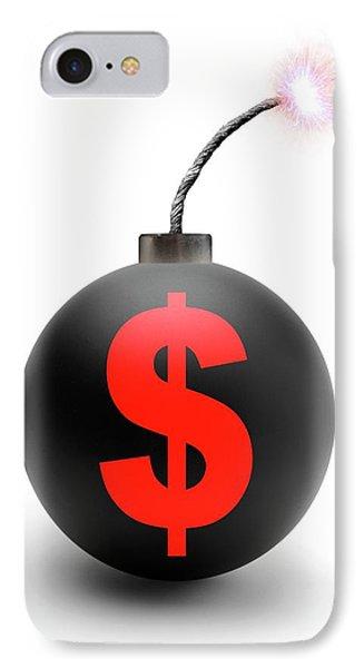 Bomb With Us Dollar Symbol IPhone Case