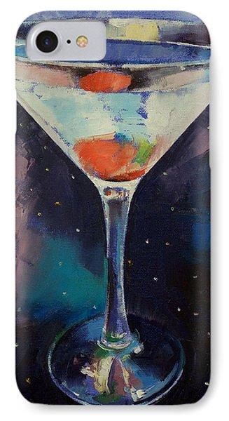 Bombay Sapphire Martini IPhone 7 Case by Michael Creese